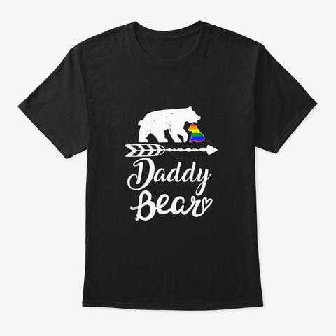 Daddy Bear Lgbt T Shirt Rainbow Pride Black T-Shirt Front