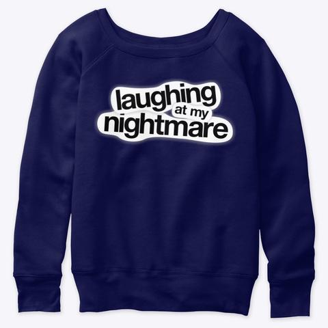 Lamn Slouchy Sweatshirt Navy  T-Shirt Front