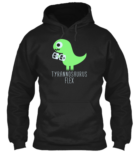Tyrannosaurus Flex Black T-Shirt Front