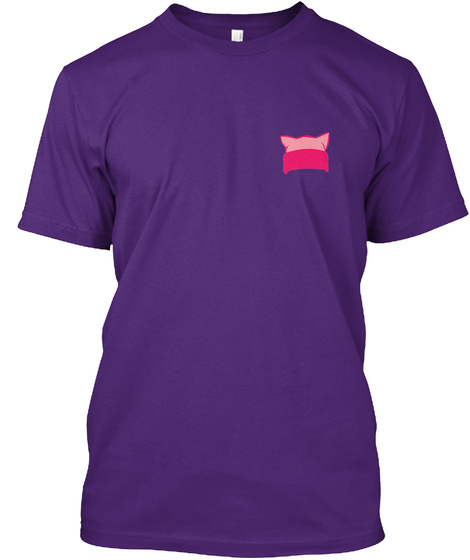 Pink Pussy Hat Within Woman Symbol Purple T-Shirt Front
