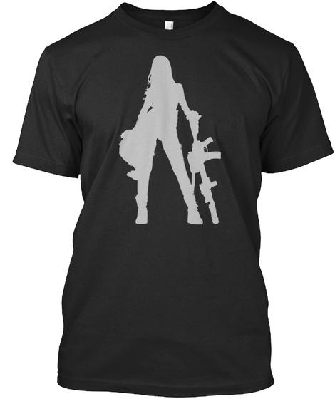 Make Love Loudly Make War Silent Black T-Shirt Front