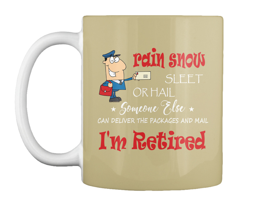miniature 53 - Funny Retired Postal Worker Mailman Tee - Rain Suck Sleet Or Gift Coffee Mug