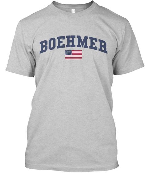 Boehmer Family Flag Light Steel T-Shirt Front