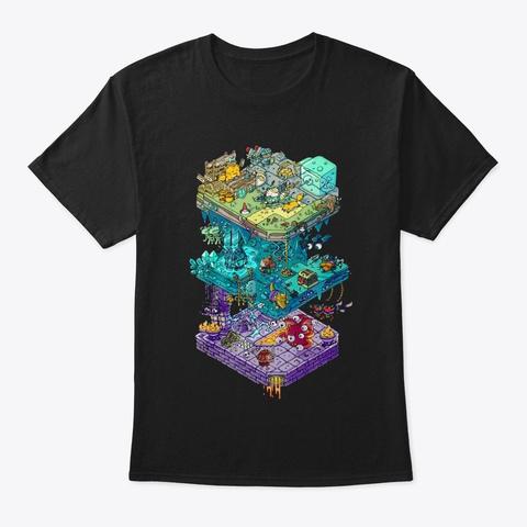 Isometric Dnd Game Shirt Black T-Shirt Front