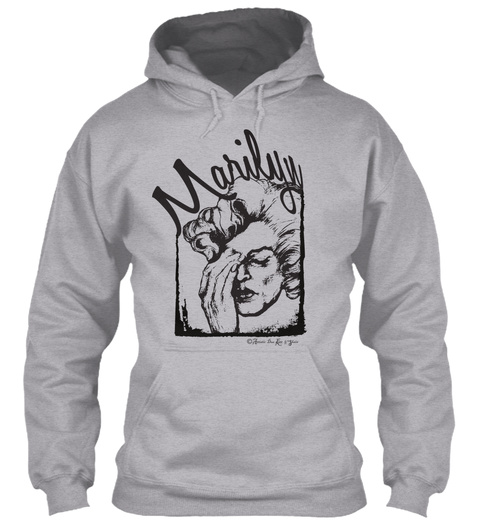Marilyn Original Art Tshirt Sport Grey T-Shirt Front