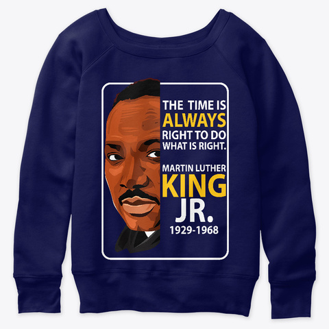 Martin Luther King Navy  T-Shirt Front