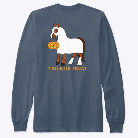 Halloween   Trick Or Treat Indigo T-Shirt Back