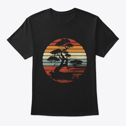 Vintage Bonsai Tree T Shirt Bonsai Art Black T-Shirt Front