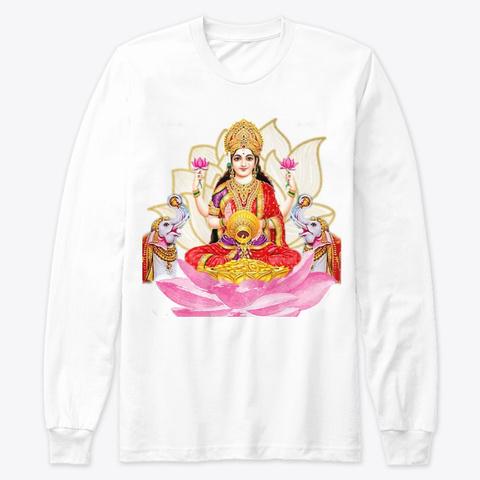 Mere Paas Maa Hain: Maa Lakshmi White T-Shirt Front