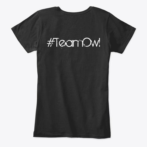 #Team Owl Women's Shirt Black T-Shirt Back