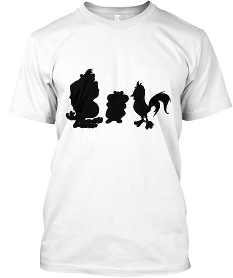 Clarkson, Hammond And May Animals White T-Shirt Front