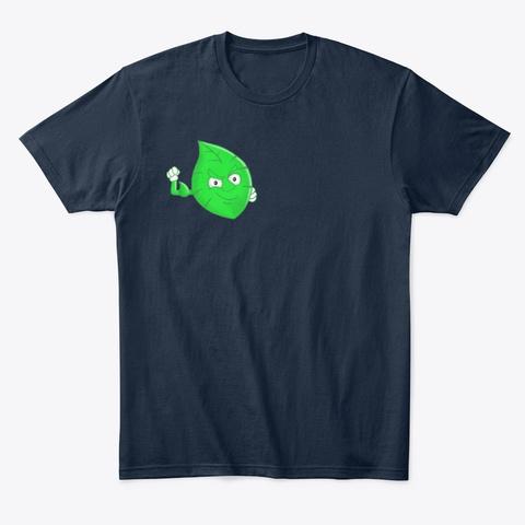 Blad Leaf Logo New Navy T-Shirt Front