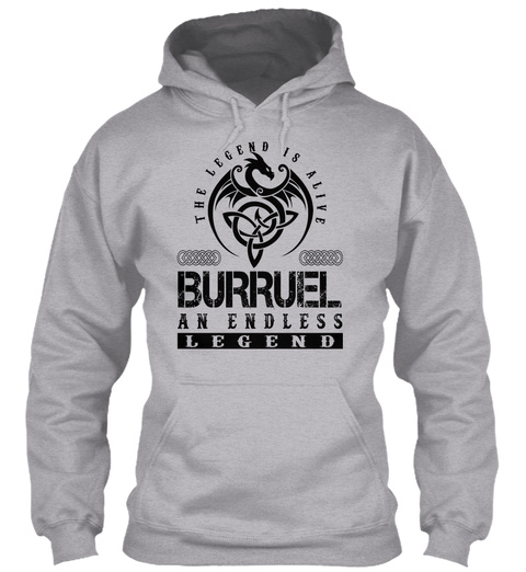 Burruel   Legends Alive Sport Grey T-Shirt Front