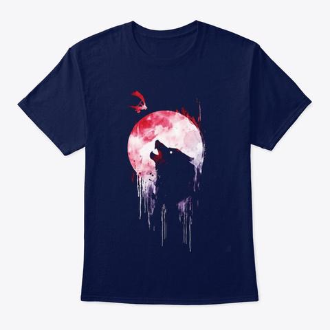 Wolf Shirt Navy T-Shirt Front