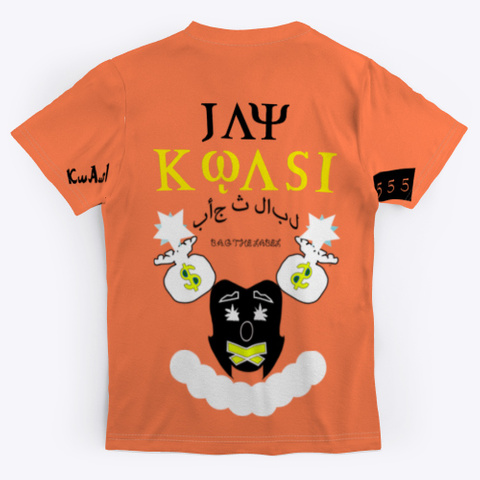 Meditate Kwasi 555 Coral T-Shirt Back