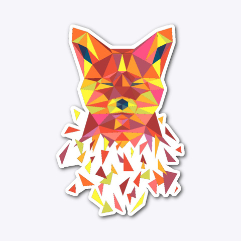 Fox Poly Art With Shatter Effect  Standard T-Shirt Front