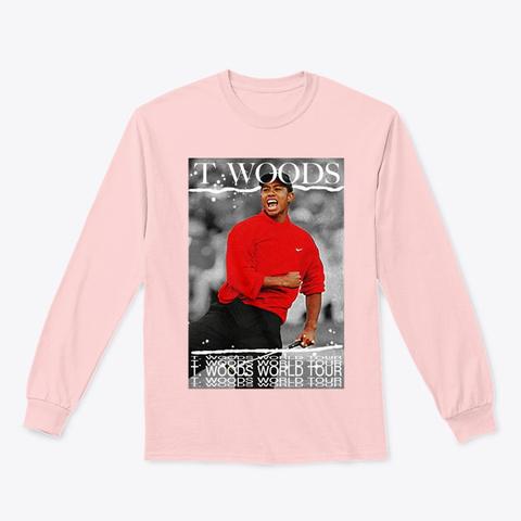 """ϟtiger """"World Tour"""" ϟ (Light Colors) Light Pink T-Shirt Front"""