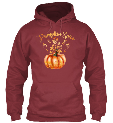 Pumpkin Spice Maroon Sweatshirt Front