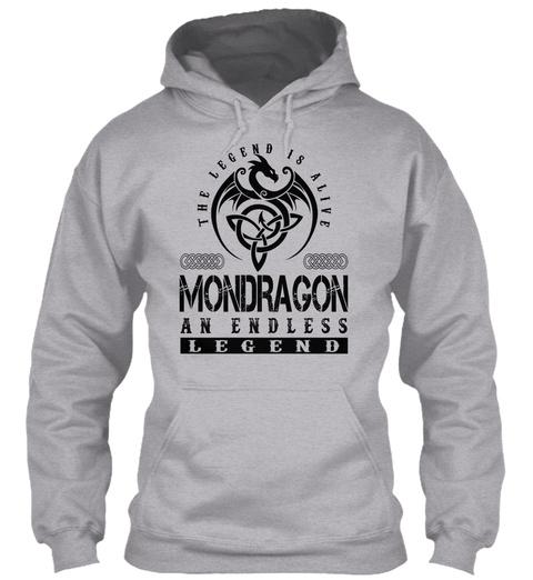 Mondragon   Legends Alive Sport Grey T-Shirt Front