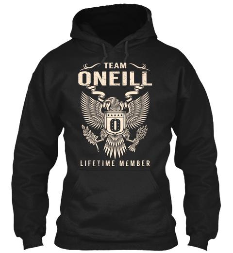 Team Oneill O Lifetime Member Black T-Shirt Front