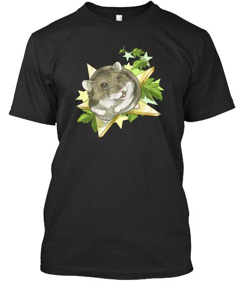 Hamster Shirt Black T-Shirt Front