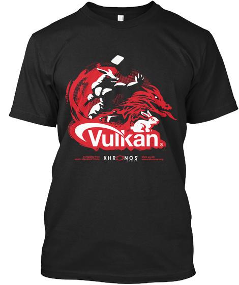 Vulkan Khronos Black T-Shirt Front