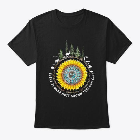Flower Children Hippie Costume Black T-Shirt Front
