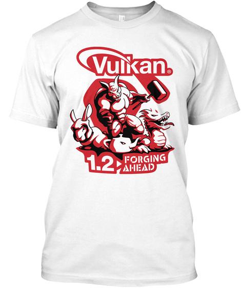 Vulkan R 1.2 Forging Ahead White Camiseta Front