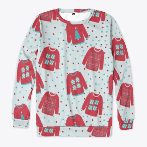 Many Ugly Sweaters Pale Blue T-Shirt Front