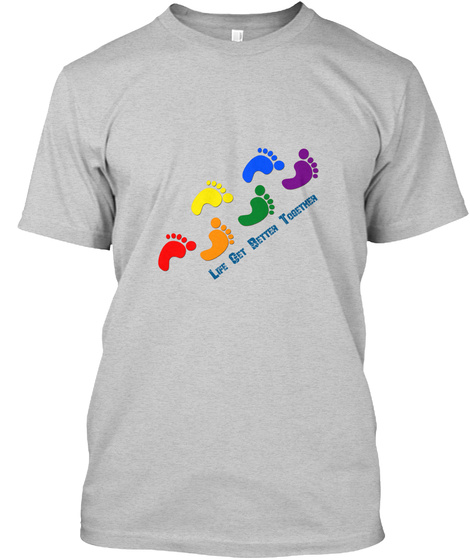 For Lgbt World Light Steel T-Shirt Front