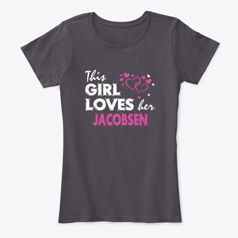 This Girl Loves Jacobsen Family Heathered Charcoal  T-Shirt Front