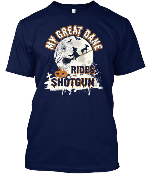 Great Dane Navy T-Shirt Front