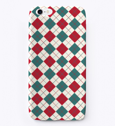 Christmas Pattern I Phone Case Coral T-Shirt Front