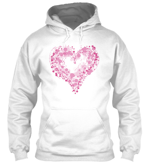 Pinky Heart White T-Shirt Front