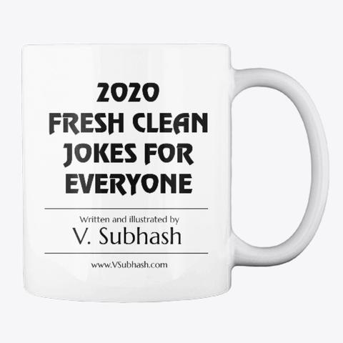 2020 Joke Book Mug For $20.20 White T-Shirt Back