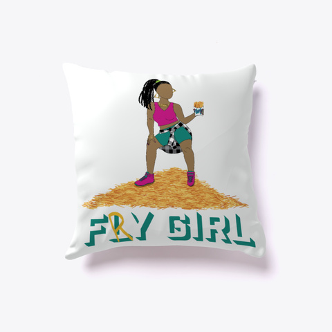 Fry Girl Pillow Standard T-Shirt Front