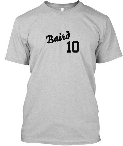 Baird Varsity Legend Light Steel T-Shirt Front
