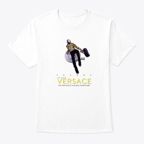 Tauros Single Cover Art Tee White T-Shirt Front