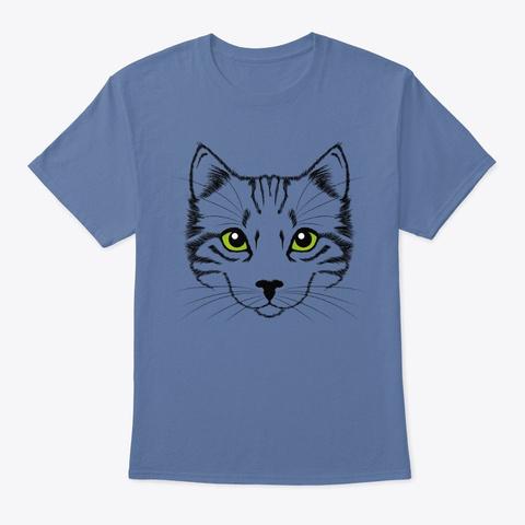 My Cat T Shirts! Denim Blue T-Shirt Front