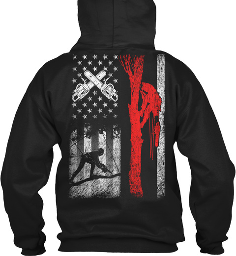 Limited Editon   Arborist 1015 Black Sweatshirt Back