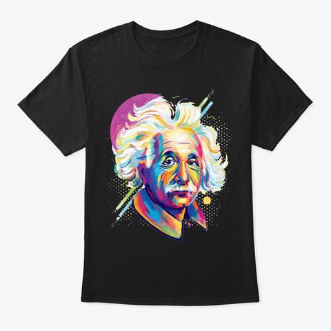 Einstein Art Black T-Shirt Front