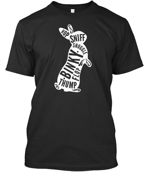 101 Rabbits Bunny Lover T Shirt Black T-Shirt Front