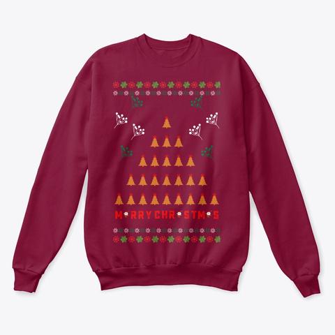Marry Christmas Sweater Cardinal  T-Shirt Front