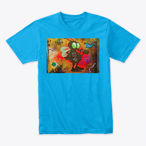 Graffiti 2050 Turquoise T-Shirt Front