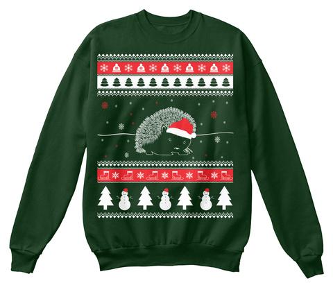 Hedgehog Christmas Jumper.Hedgehog Ugly Christmas Sweater