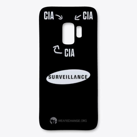 Cia Surveillance Phone Case For Samsung  Black T-Shirt Front