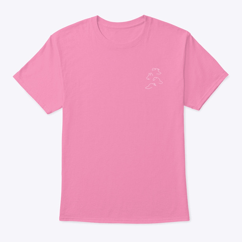 Jenna Marbles Dogs Line Art Silhouette Pink T-Shirt Front