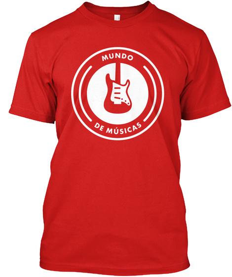 T Shirt Oficial Mundo De Músicas Red T-Shirt Front