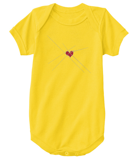 Baby Heart   Red Yellow  T-Shirt Front