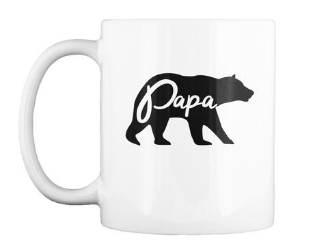 Papa Bear White Mug Front